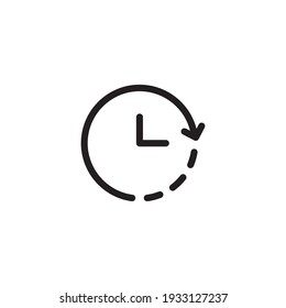 Timer simple thin line icon vector illustration