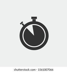 Timer  vector icon illustration sign