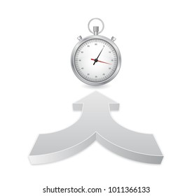 timer watch with 3d arrow icon