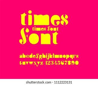Times font set