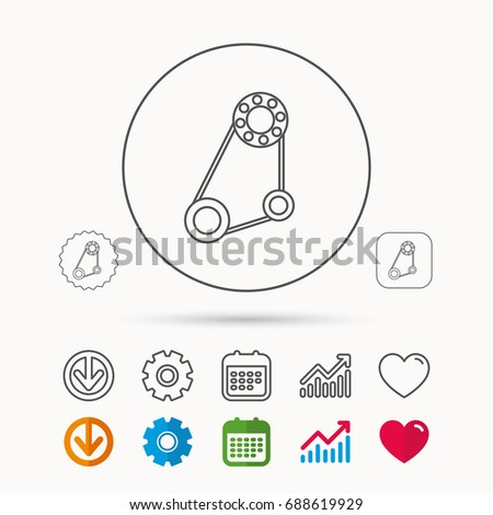 Timing Belt Icon Generator Strap Sign Stock Vector (Royalty Free