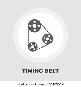 Timing belt icon vector. Flat icon isolated on the white background. Editable EPS file. Vector illustration.