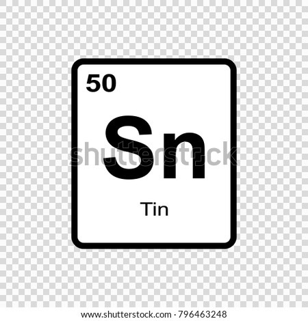Tin Chemical Element Sign Atomic Number Stock Vector Royalty Free