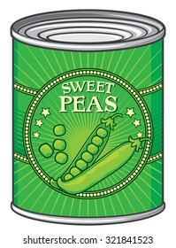 tin of green peas (can)