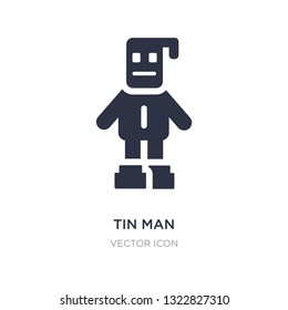 tin man icon on white background. Simple element illustration from People concept. tin man sign icon symbol design.
