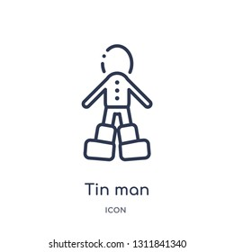 tin man icon from people outline collection. Thin line tin man icon isolated on white background.