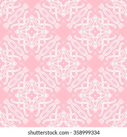 Tints of Pink Seamless pattern, Abstract Seamless pattern, Vector Seamless pattern. Repeating geometric, Seamless floral pattern.