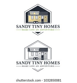 Tiny Living Homes Houses Logo Badge illustration