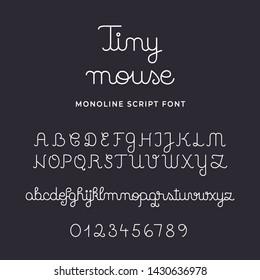 Tiny Mouse Monoline Script Font