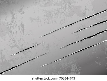 tiny scratches in metal