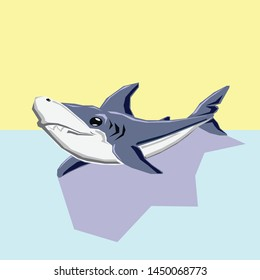 Tinylodon, friendly tiny megalodon shark, best friend of crocodeli, cartoon toys shark, Icon Logo Avatar
