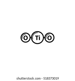 TiO2 titanium icon - vector illustration.