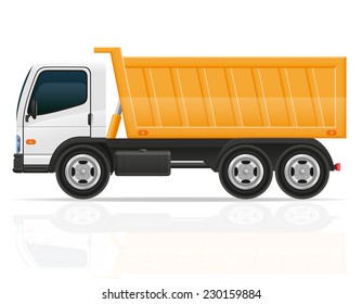 tipper truck for construction vector illustration isolated on white background