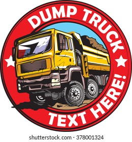 Tipper truck logo design.