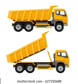 Tipper Truck. Realistic vector illustration