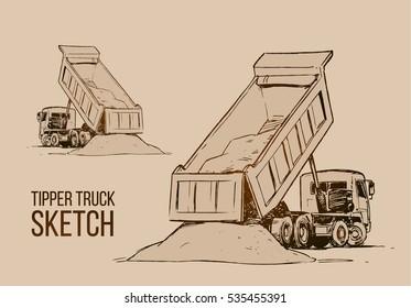 Tipper Truck Sketch