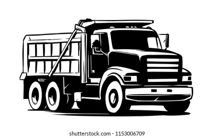 Tipper truck. vector illustration