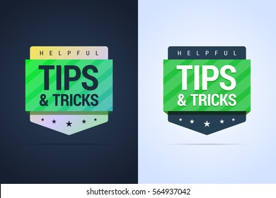 Tips and tricks banners. Flat and gradient styles. Vector illustration