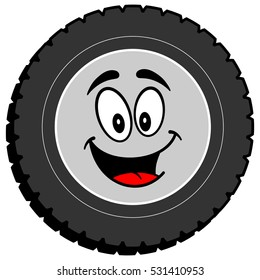 Tire Cartoon