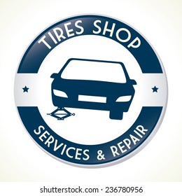 Tire Design over white background, vector illustration.