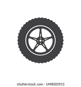 tire icon logo illustration vector template design