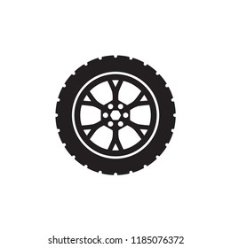 tire icon, wheel vector icon in trendy flat design