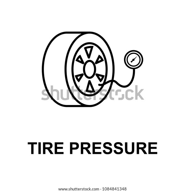 tire pressure icon. Element of car repair for mobile concept and web apps. Detailed  icon can be used for web and mobile. Premium icon on white background