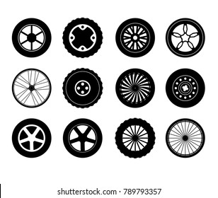 Tire and rim icons