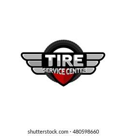 tire service logo icon vector