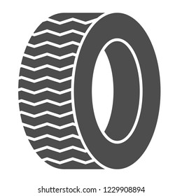 Tire solid icon. Car wheel vector illustration isolated on white. Auto disk glyph style design, designed for web and app. Eps 10