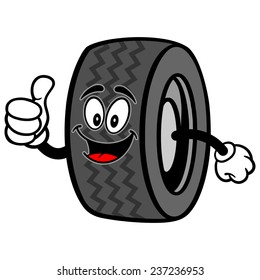 Tire with Thumbs Up