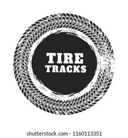 tire track circle background design