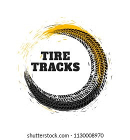 tire track in circle style
