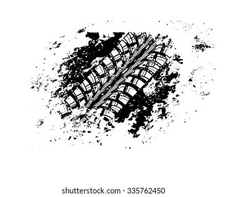Tire track vector background