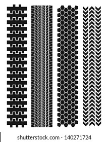 Tire track. Vector illustration EPS
