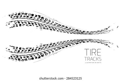 Tire tracks background.