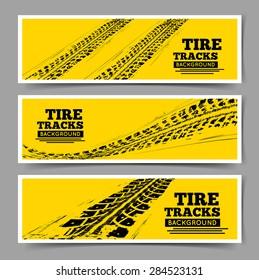 Tire tracks background.
