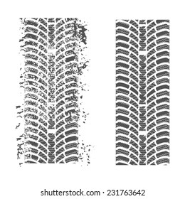 Tire tracks. Vector on a white background for your design