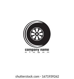 Tire vector icon illustration design template