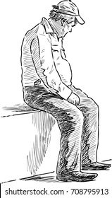 Man Sitting Sketch Images Stock Photos Vectors Shutterstock