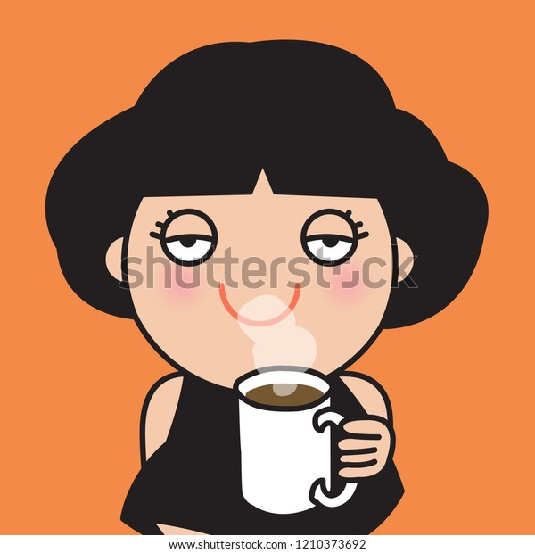 Tired Woman Empty Eyes Looking Camera Stock Vector (Royalty