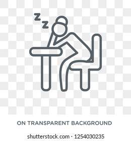 Tired Woman icon. Trendy flat vector Tired Woman icon on transparent background from Ladies collection. High quality filled Tired Woman symbol use for web and mobile