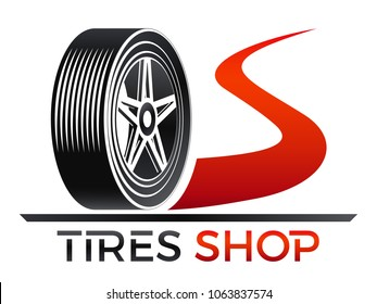 tires shop - tire on the road