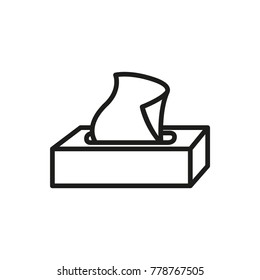 tissue box icon, vector illustration