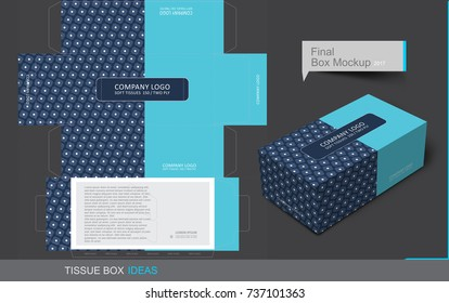 Tissue box template concept, Template for Business Purpose, Place Your Text and Logos  and Ready To GO For Print.