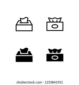 Tissue Icon Logo Vector Symbol. Kleenex Icon
