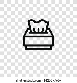 tissue icon from take away collection for mobile concept and web apps icon. Transparent outline, thin line tissue icon for website design and mobile, app development