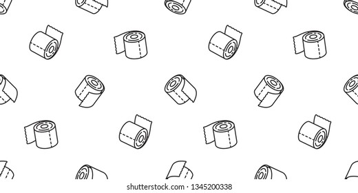 tissue paper poo seamless pattern vector toilet dog scarf isolated repeat wallpaper tile background icon Cartoon doodle illustration