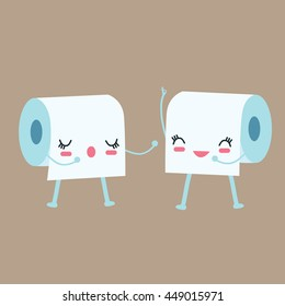 tissue toilet paper character talk to each other