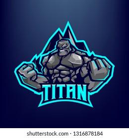 Titan Golem Mascot logo